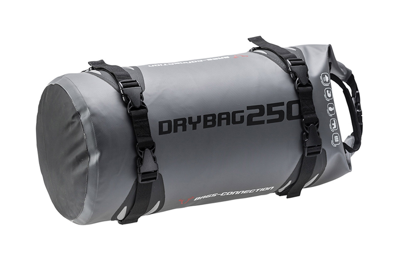 Bags-Connection Drybag 250, harmaa/musta